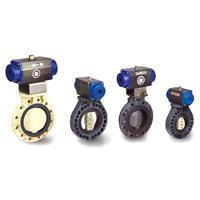 Pneumatic Actuated Butterfly Valve - Double Action Type