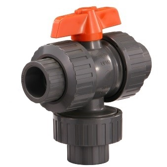 THREE WAY BALL VALVE(THE VERTICAL DIVERTER TYPE)